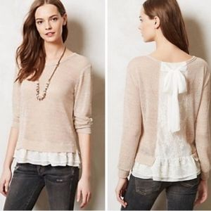 Clu Willoughby Lace Back Pullover Top